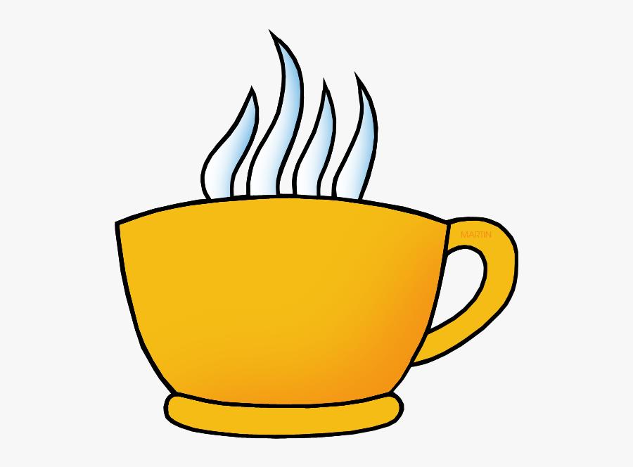 Yellow Cup - Orange Coffee Mug Clip Art, Transparent Clipart