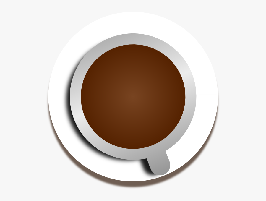Coffee Cup Top Png - Circle, Transparent Clipart