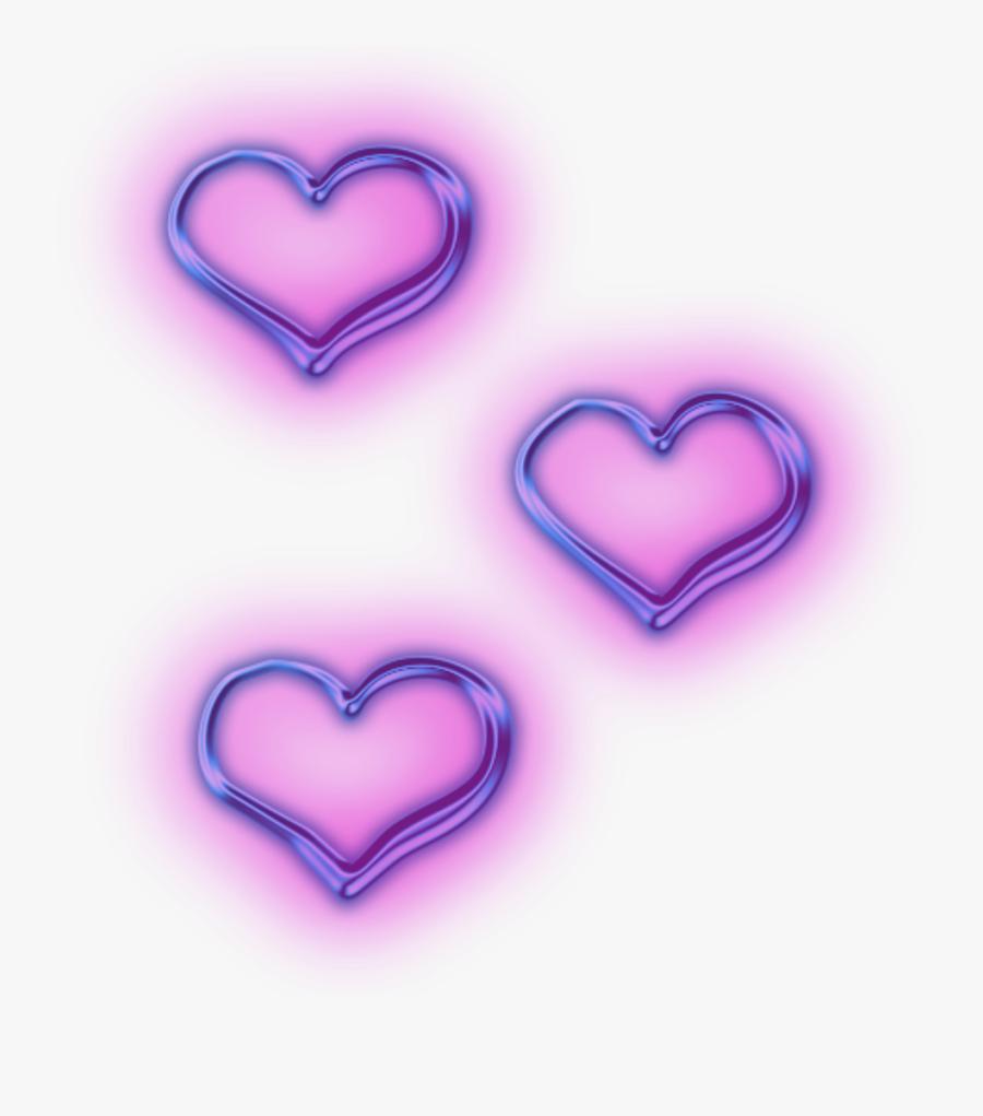 Transparent Purple Heart Clipart - Aesthetic Purple Hearts Png, Transparent Clipart