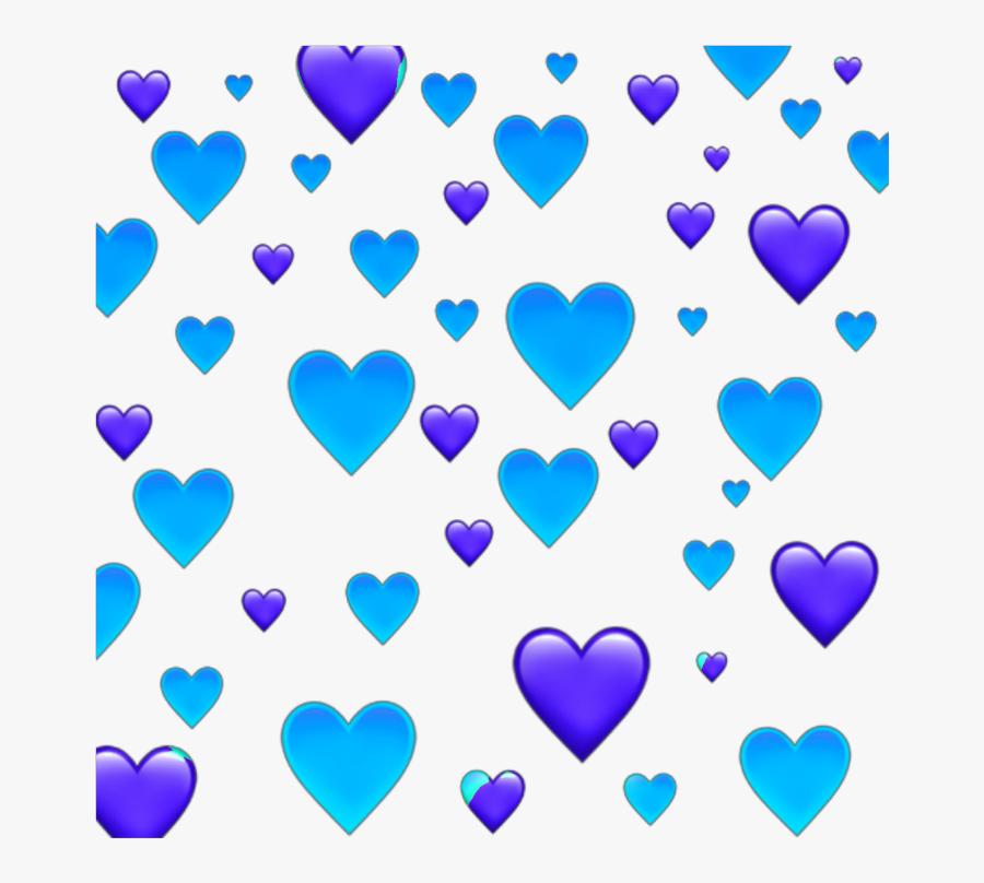 #blue #purple #background #heart #hearts #heartbackground - Blue And Purple Hearts, Transparent Clipart