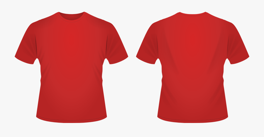 T Shirt Svg By Danrabbit - Red T Shirt Template Png, Transparent Clipart