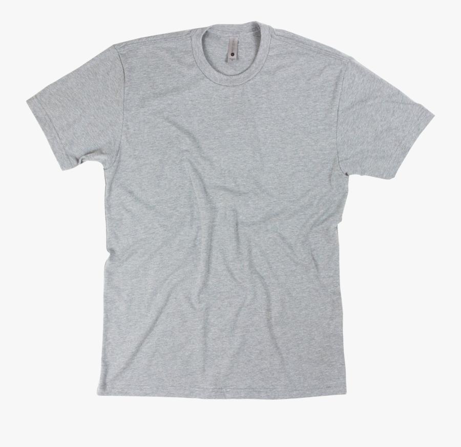 T Shirt Blank Png - Next Level Gray Shirt, Transparent Clipart