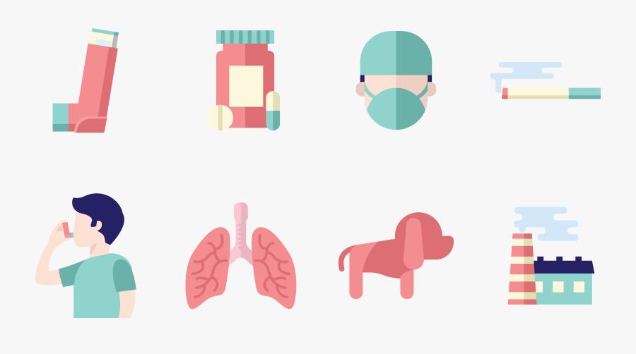 Disease Asthma Allergy Medicine Icon - Icon Inhalation, Transparent Clipart