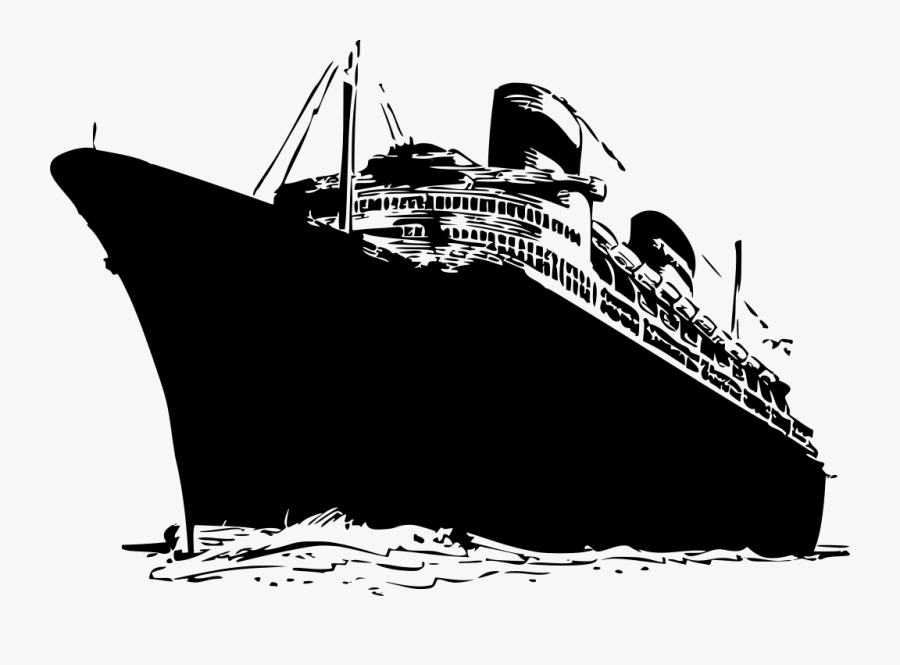 Ship Svg Passenger - Queen Mary Ship Drawing, Transparent Clipart