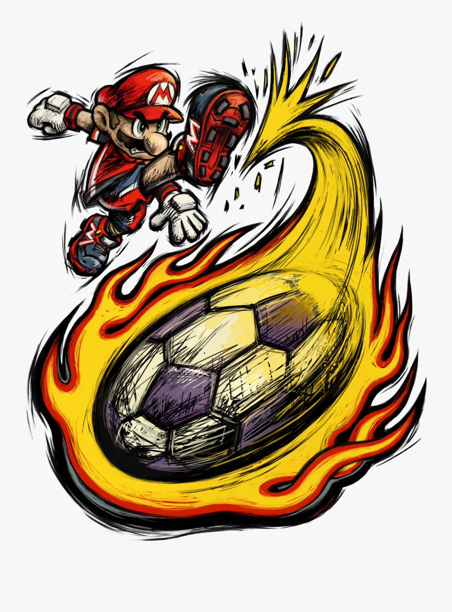 Mario Strikers Charged - Super Mario Strikers Logo, Transparent Clipart