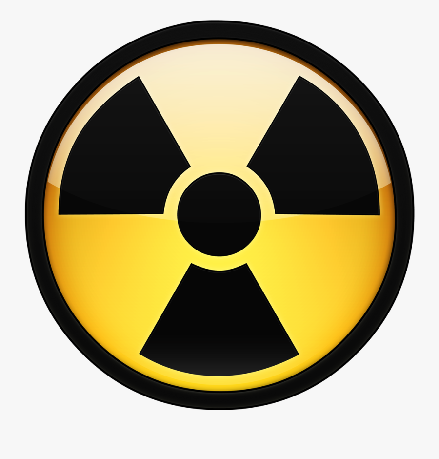 Clip Art Nuclear Waste Symbol - Nuclear Logo Black And White, Transparent Clipart