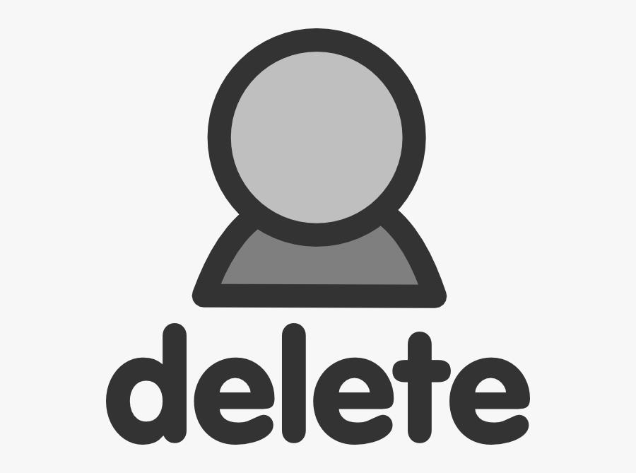 Delete User Svg Clip Arts - Delete Person, Transparent Clipart