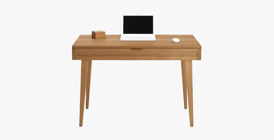Modern Study Table With Single Storage Drawer - Wooden Single Study Table, Transparent Clipart