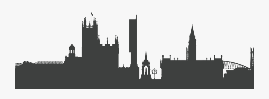 Manchester Skyline Silhouette Png - Manchester Skyline ...