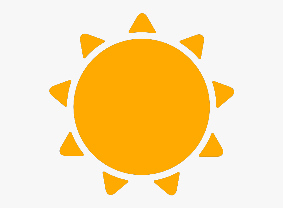 Transparent Wetter Clipart - Sunny Weather Icon Png, Transparent Clipart