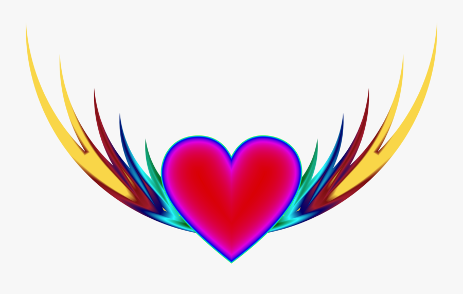 Heart,love,organ - Heart With Wings Transparent Background, Transparent Clipart