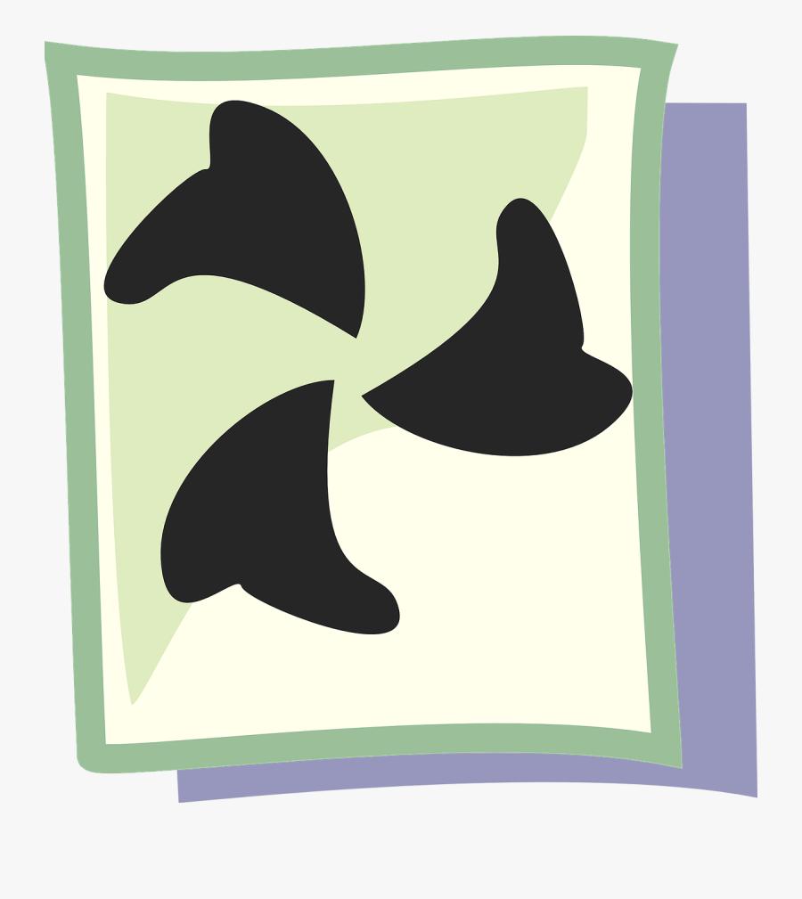 Shark Tooth Symbol, Transparent Clipart