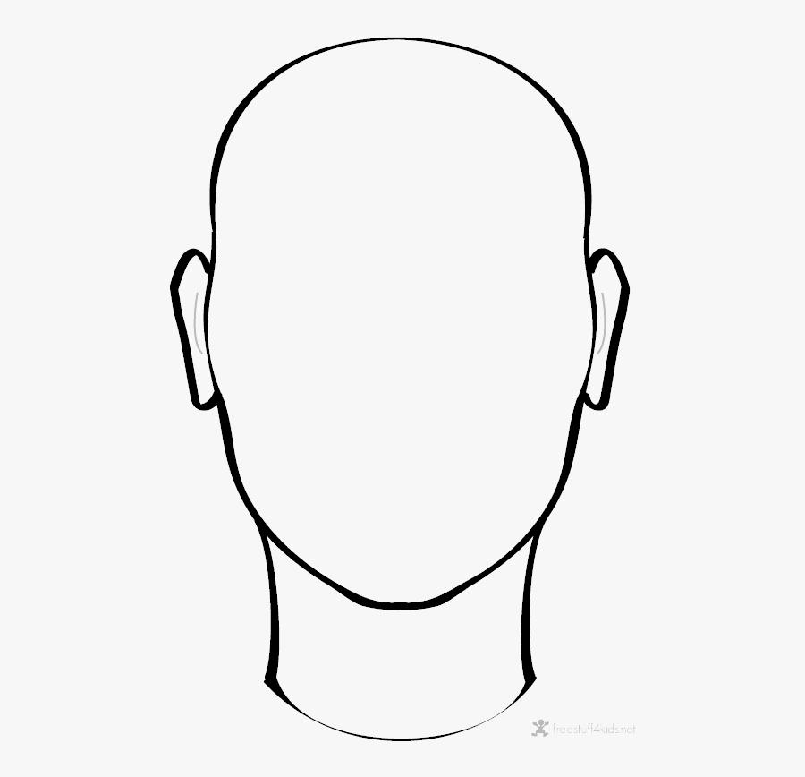 Transparent Blank Face Png - Face Outline Png, Transparent Clipart