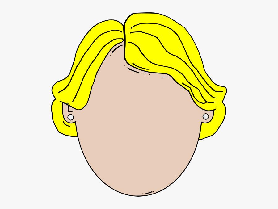 Blank Face Girl Cartoon Clip Art At Clker, Transparent Clipart