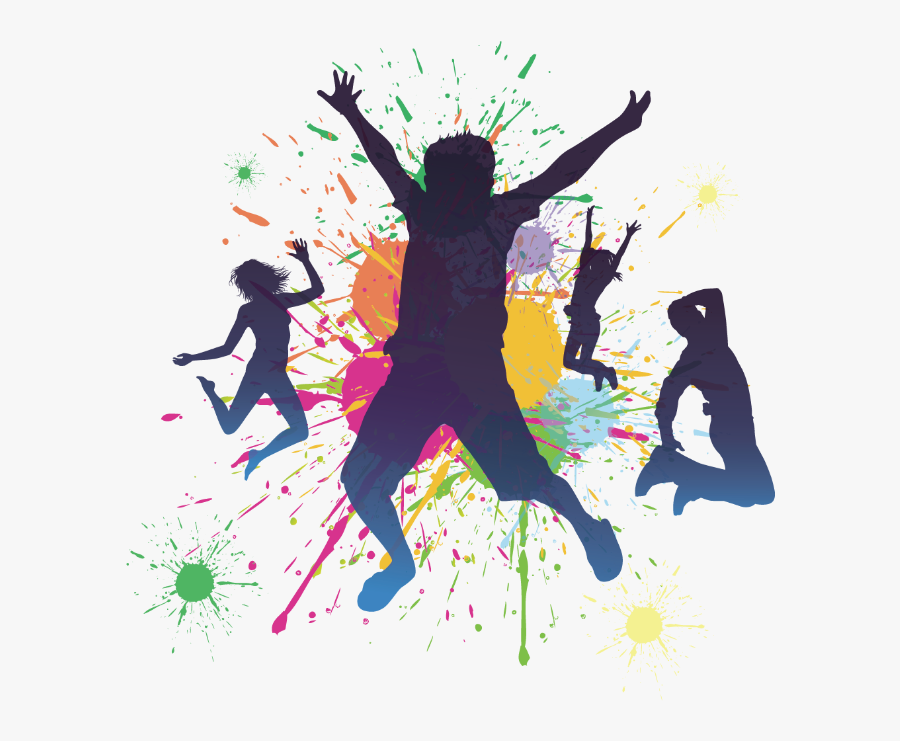 Dancing Party Silhouette Dance Jumping Peoples Dancing Png Free Transparent Clipart Clipartkey
