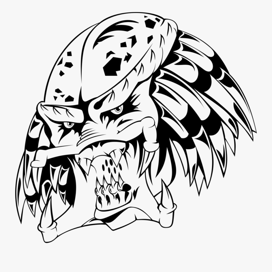 Collection Of Free Predator Drawing Download On Ui - Easy Drawings Of Predator, Transparent Clipart