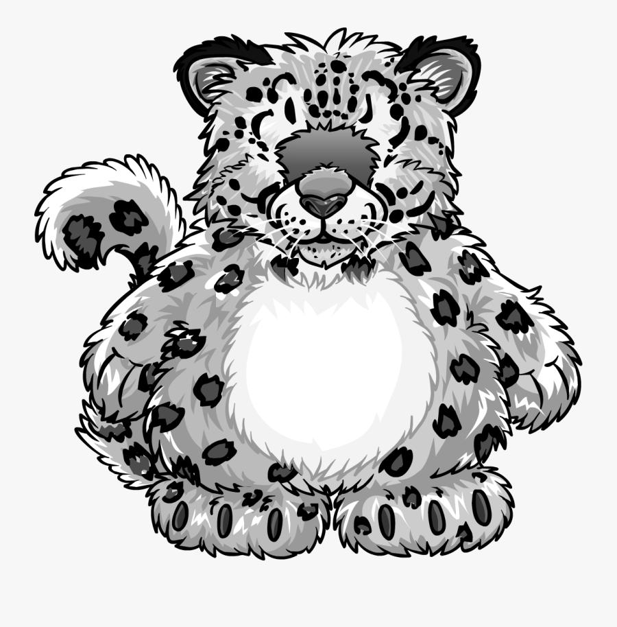 Snow Leopard Costume - Club Penguin Snow Leopard Costume, Transparent Clipart