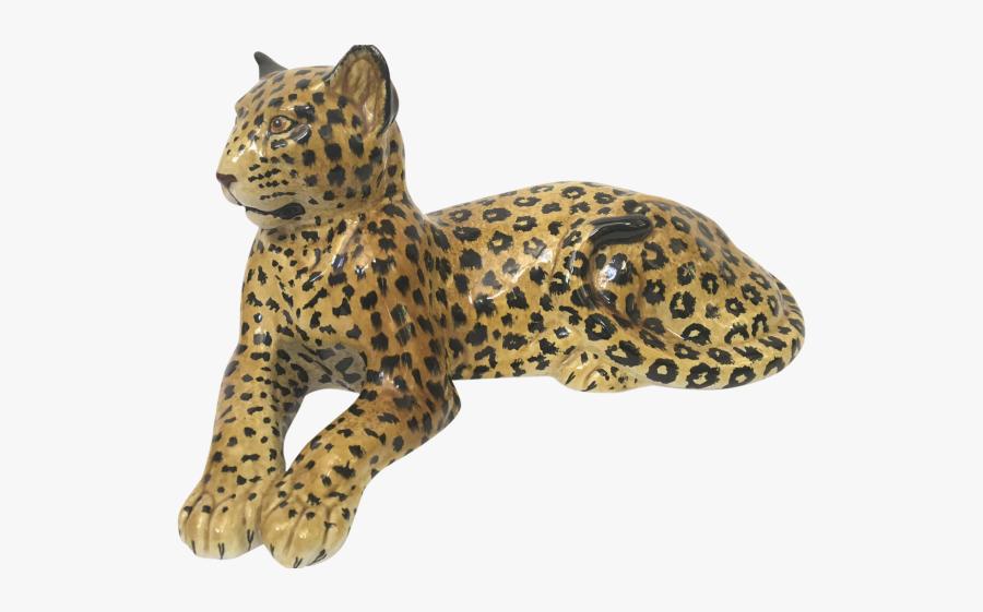 Ceramic Jaguar Cat, Transparent Clipart