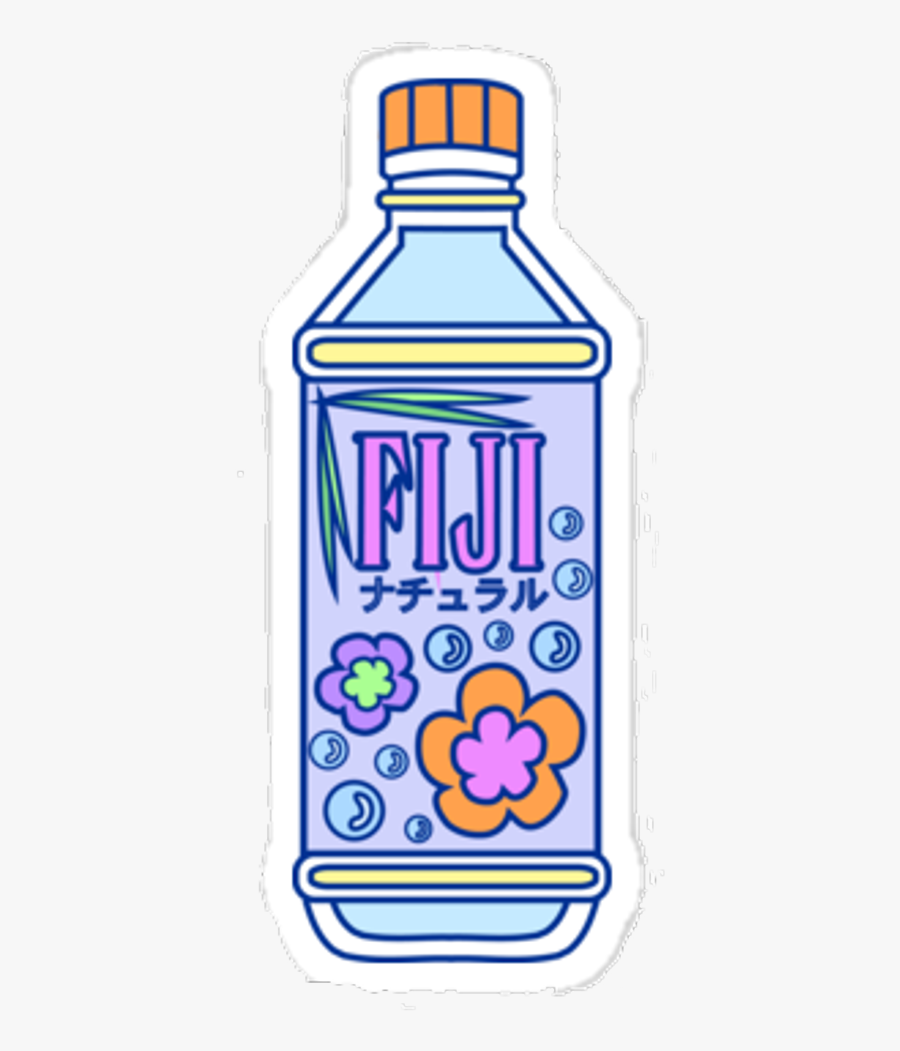 Fiji Bottle Water Pixel Aesthetic Water Bottle Stickers