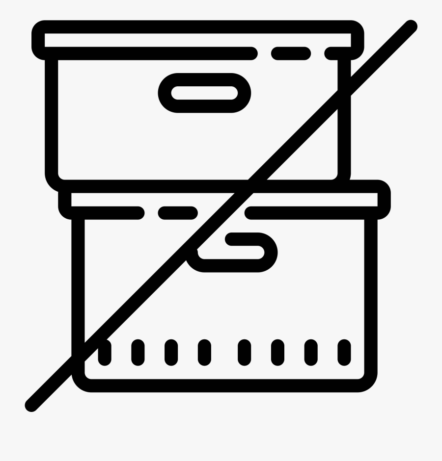 Do Not Stack Icon - Icon, Transparent Clipart