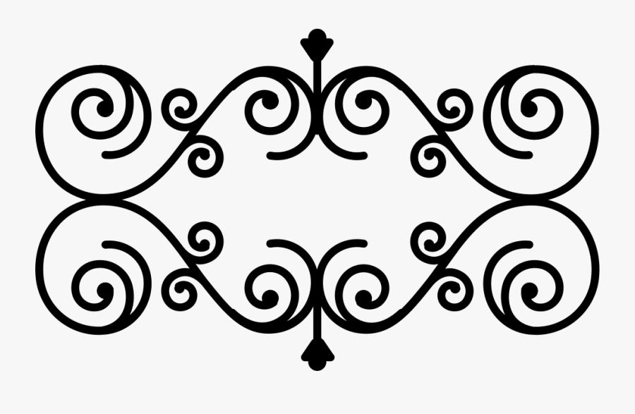 Floral Design With Vertical And Horizontal Symmetry - Floral Curve Vector Design, Transparent Clipart