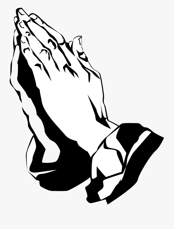 Praying Hands Black Clipart Transparent Png - Transparent Praying Hands Png, Transparent Clipart