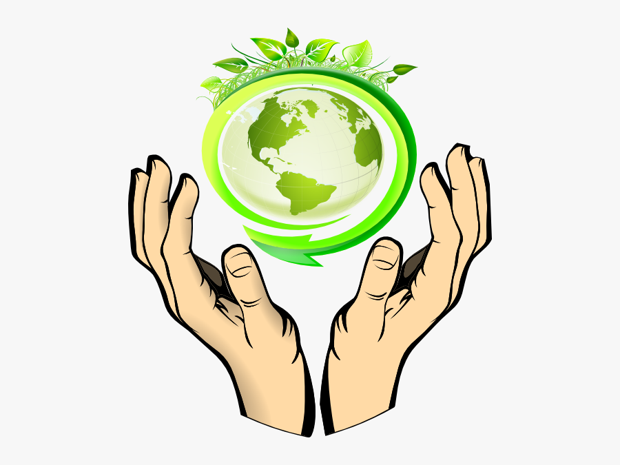 Open Praying Hand Clipart - Save Earth Go Green Poster, Transparent Clipart