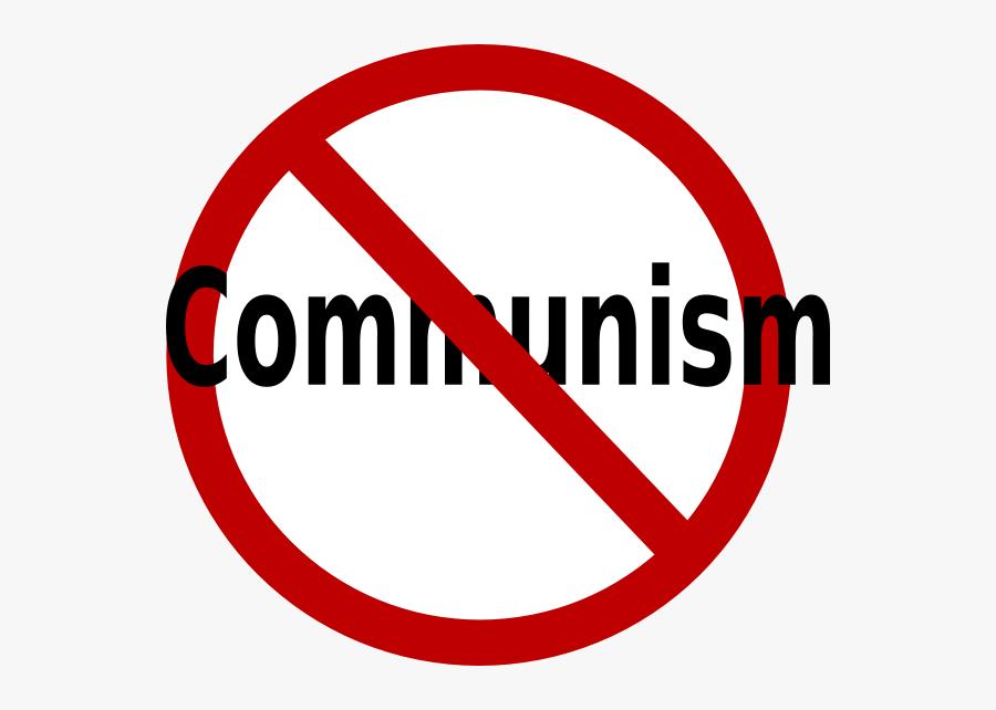 Anti Communism No Communism, Transparent Clipart