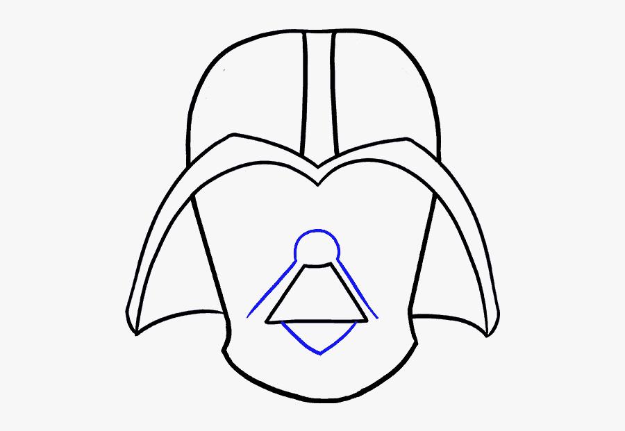 How To Draw Dart Vader - Mask Star Wars Vader Helmet How To Draw Darth Vader, Transparent Clipart