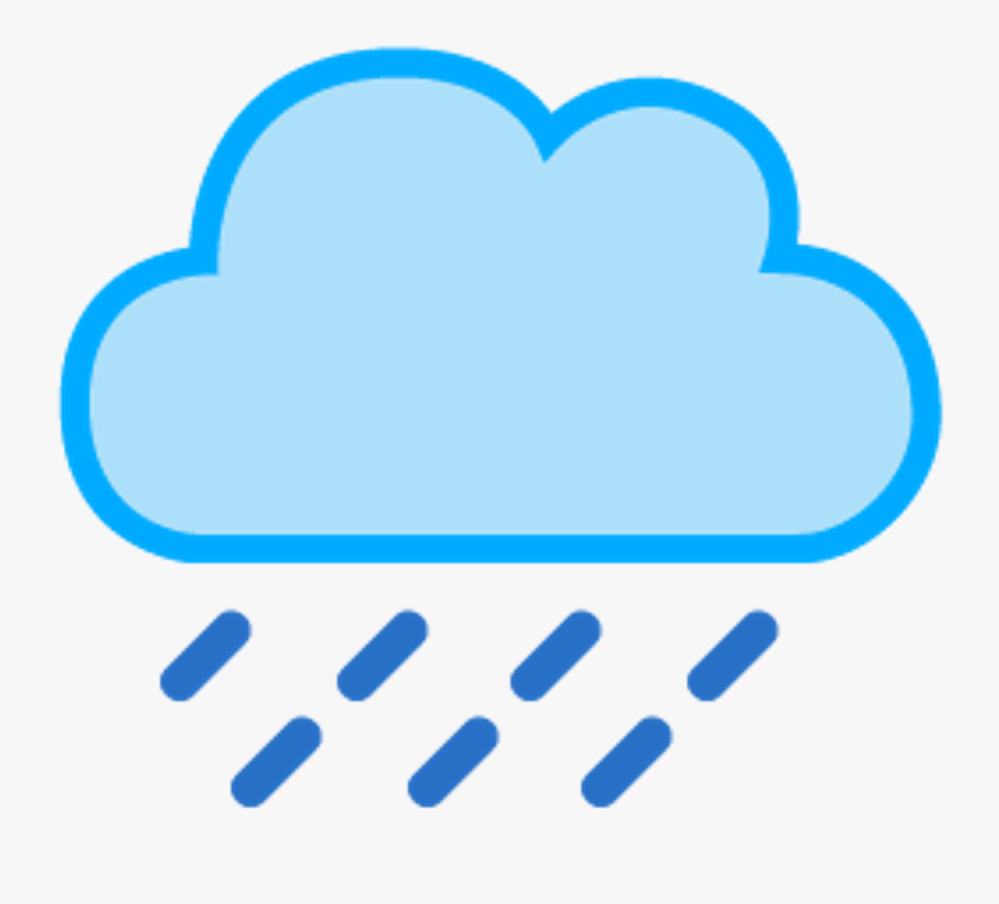 Nube Lluvia Cloud Rain Raincloud - Rain Cloud Weather Symbol, Transparent Clipart
