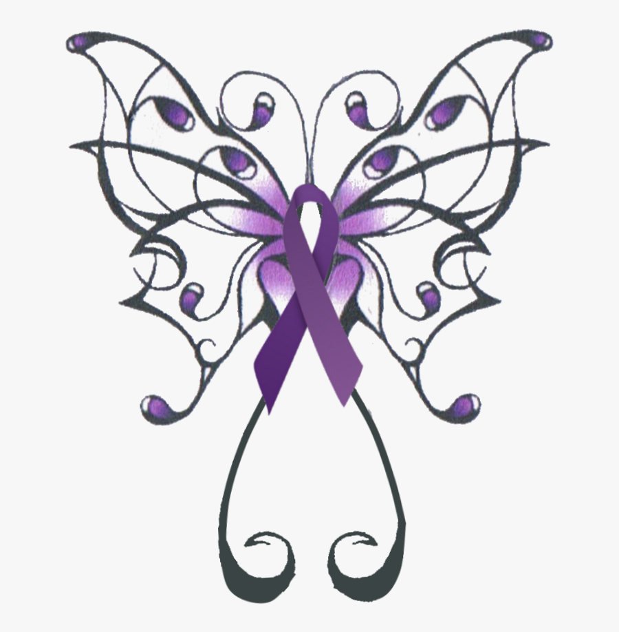 Swirly Butterfly Tattoo Design Clipart , Png Download - Purple Lupus Butterfly Tattoo, Transparent Clipart