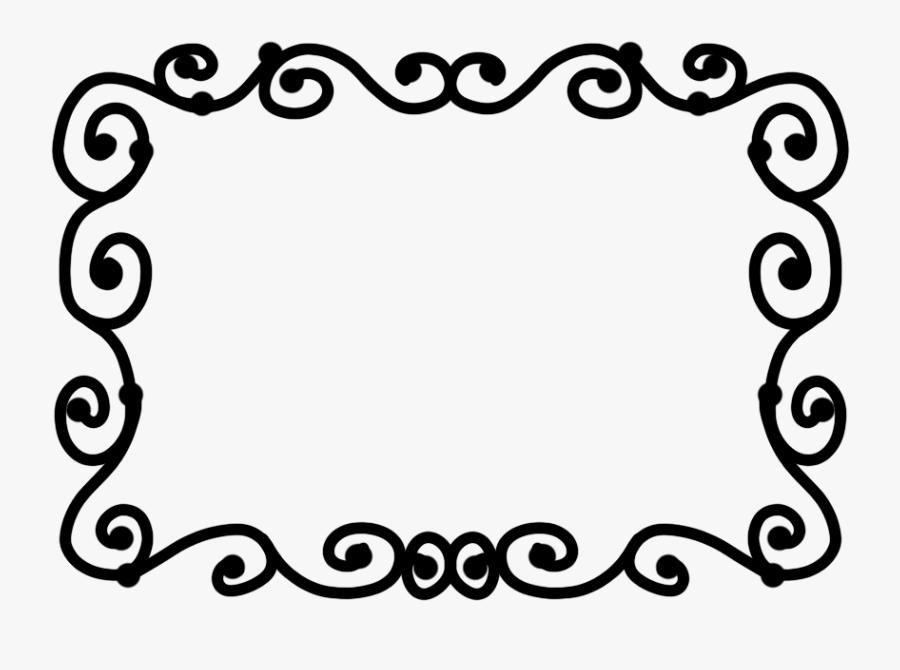 กรอบ ขาว ดำ Png Clipart , Png Download - Line Drawing Of Frames, Transparent Clipart