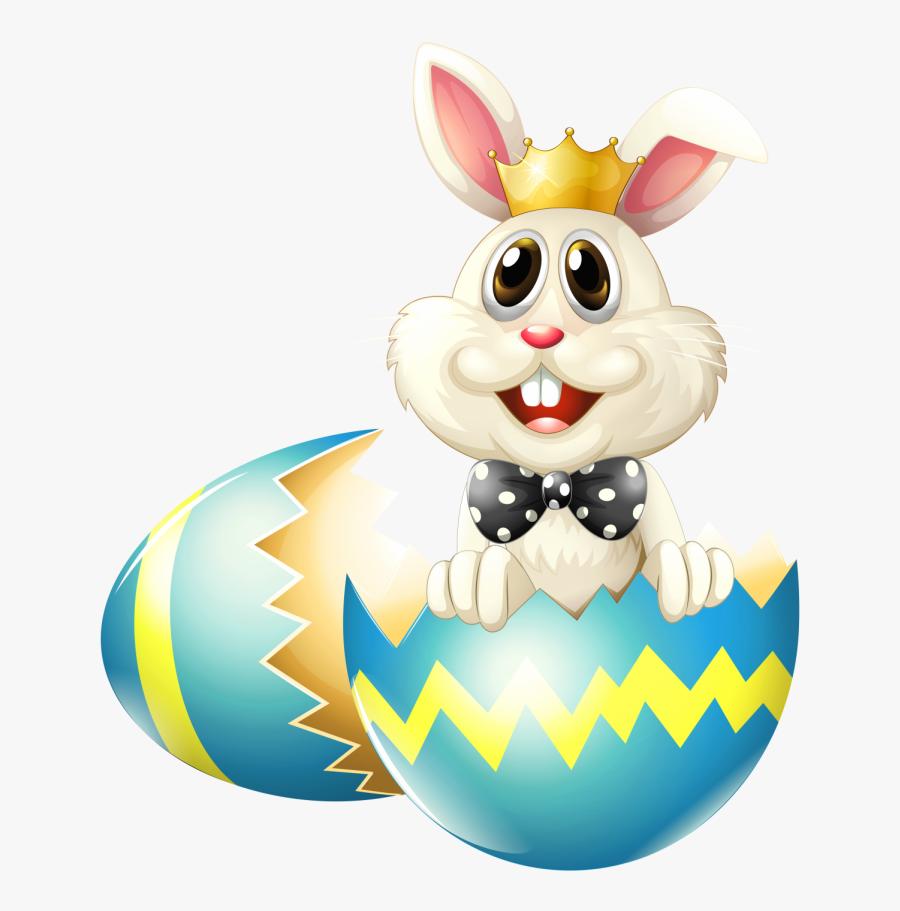 Transparent Background Easter Bunny Png - Cracked Easter Egg Vector, Transparent Clipart