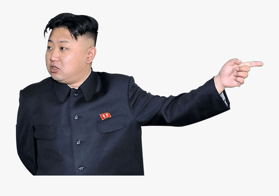 Kim Jong Un Pointing Right - Kim Jong Un No Background, Transparent Clipart