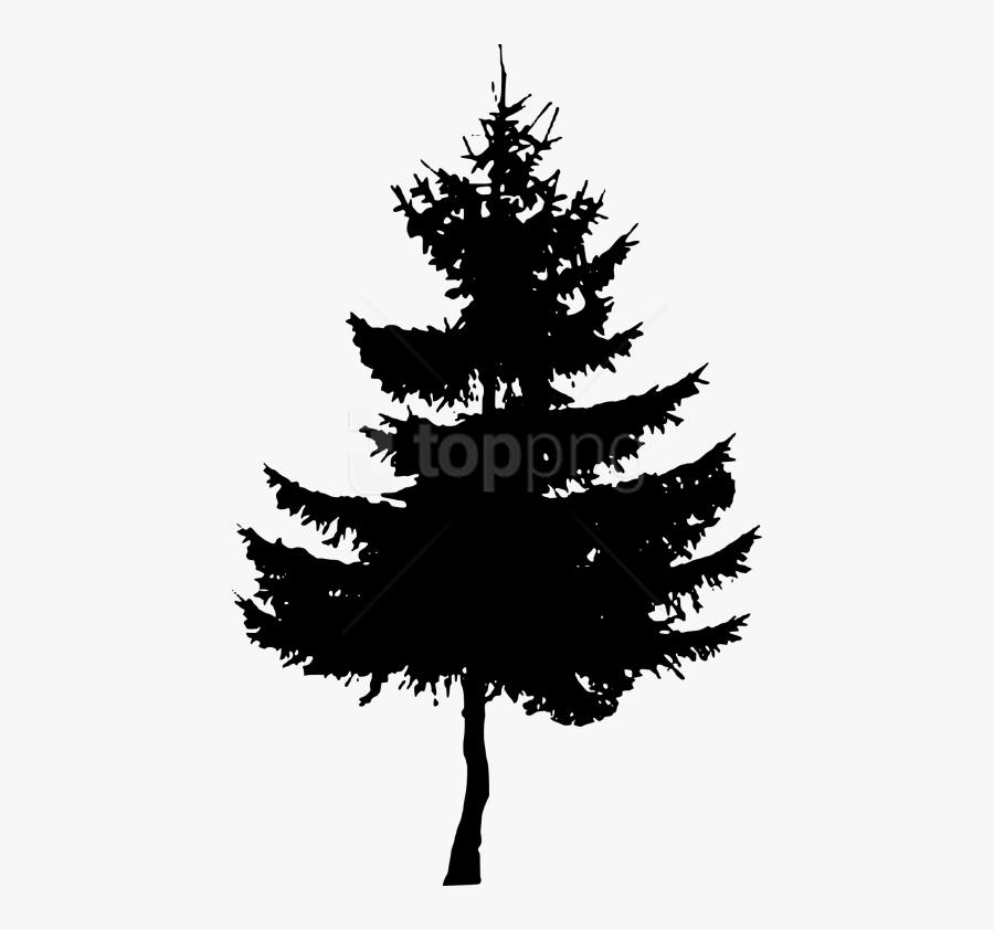 Tree,shortleaf Black Spruce,white Pine,colorado Spruce,christmas - Small Pine Tree Silhouette, Transparent Clipart