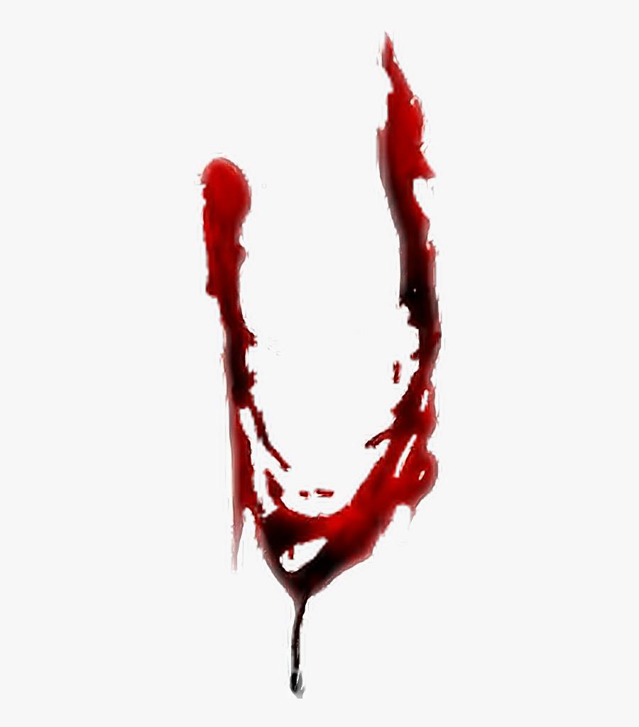 #blood #bloody #alphabet #letter #writing #u #vowl - Bloody U Letter, Transparent Clipart