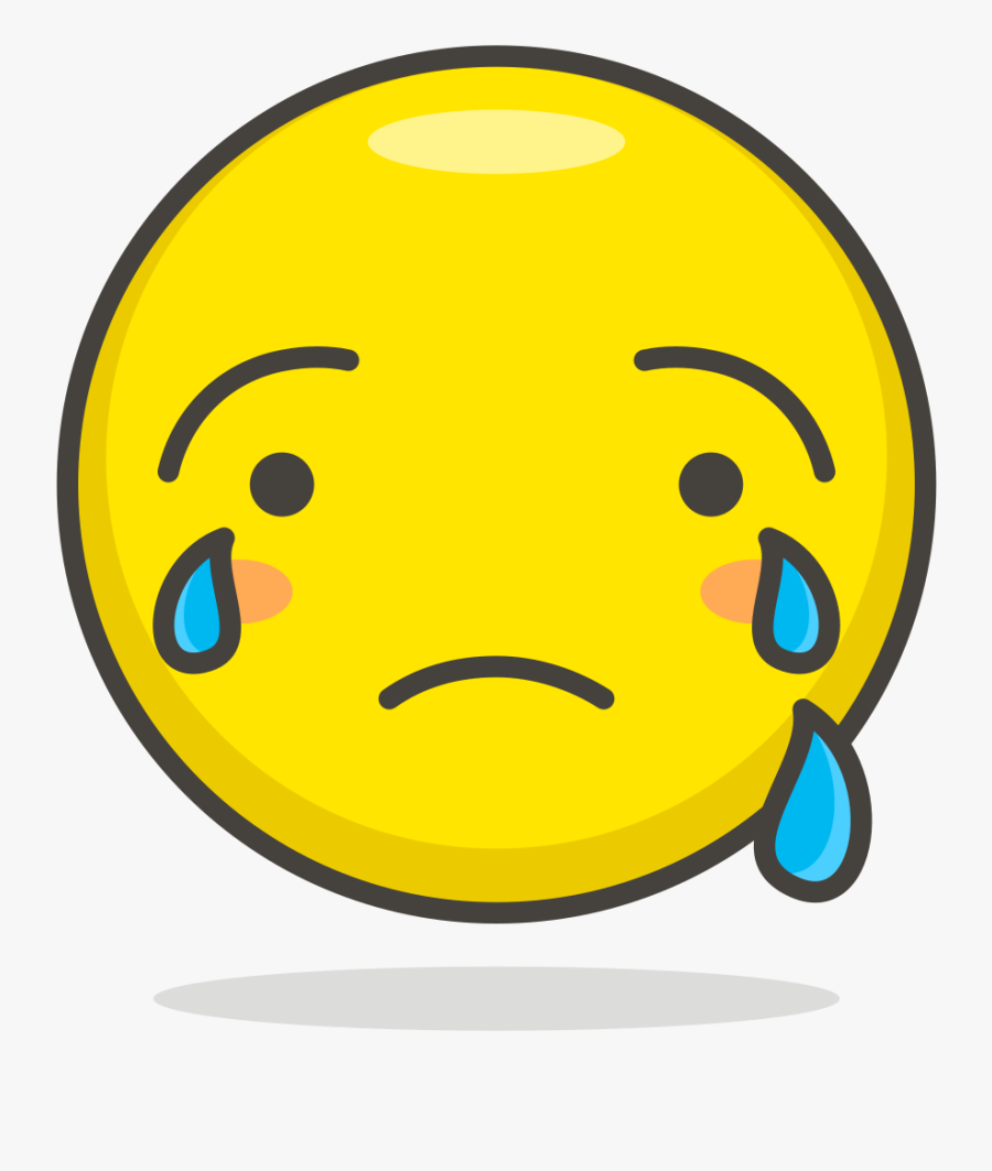 Transparent Cry Face Png - Crying Smiley, Transparent Clipart