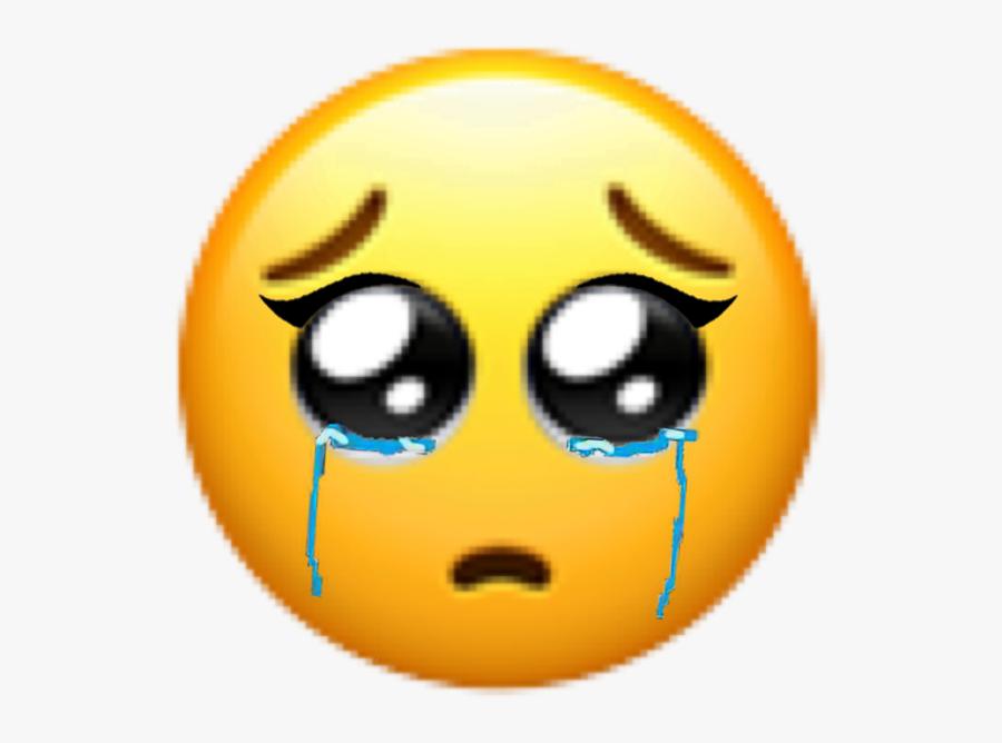 #freetoedit #sad #eyes #yellow #head #emoji #sticker - Sad Crying Girl Emoji, Transparent Clipart