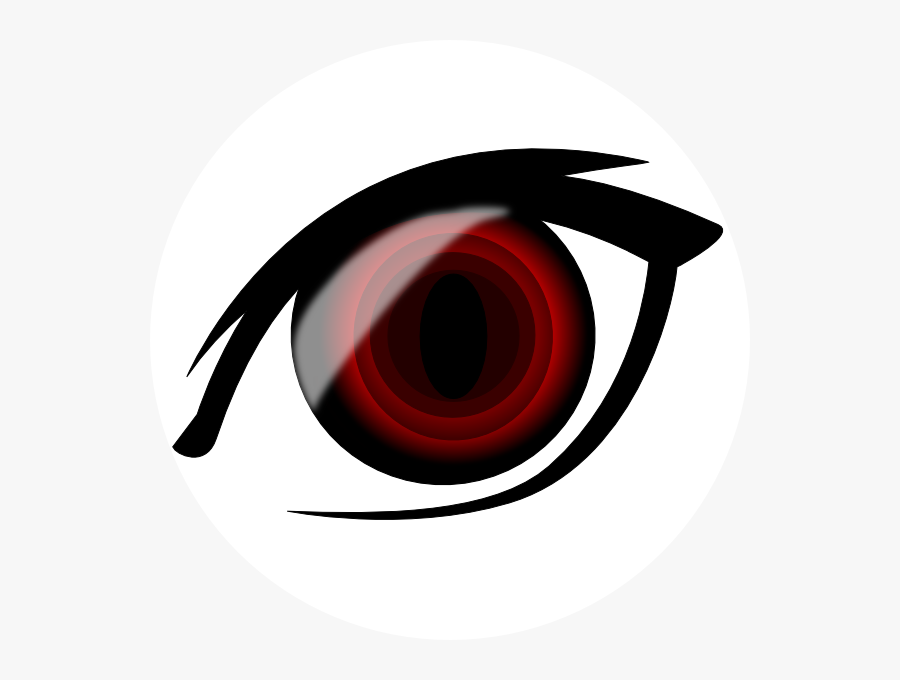 Red Eyes Clipart Cat - Anime Eyes Orange Png, Transparent Clipart