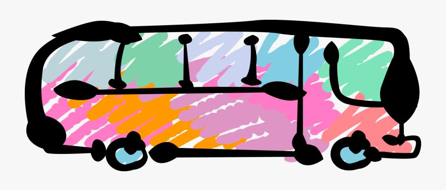 Vector Illustration Of Intercity Passenger Tour Bus - Illustration, Transparent Clipart