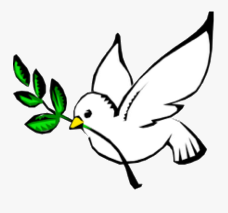 Columbidae Doves As Symbols Peace Olive Branch Clip - God The Holy Spirit Symbol, Transparent Clipart
