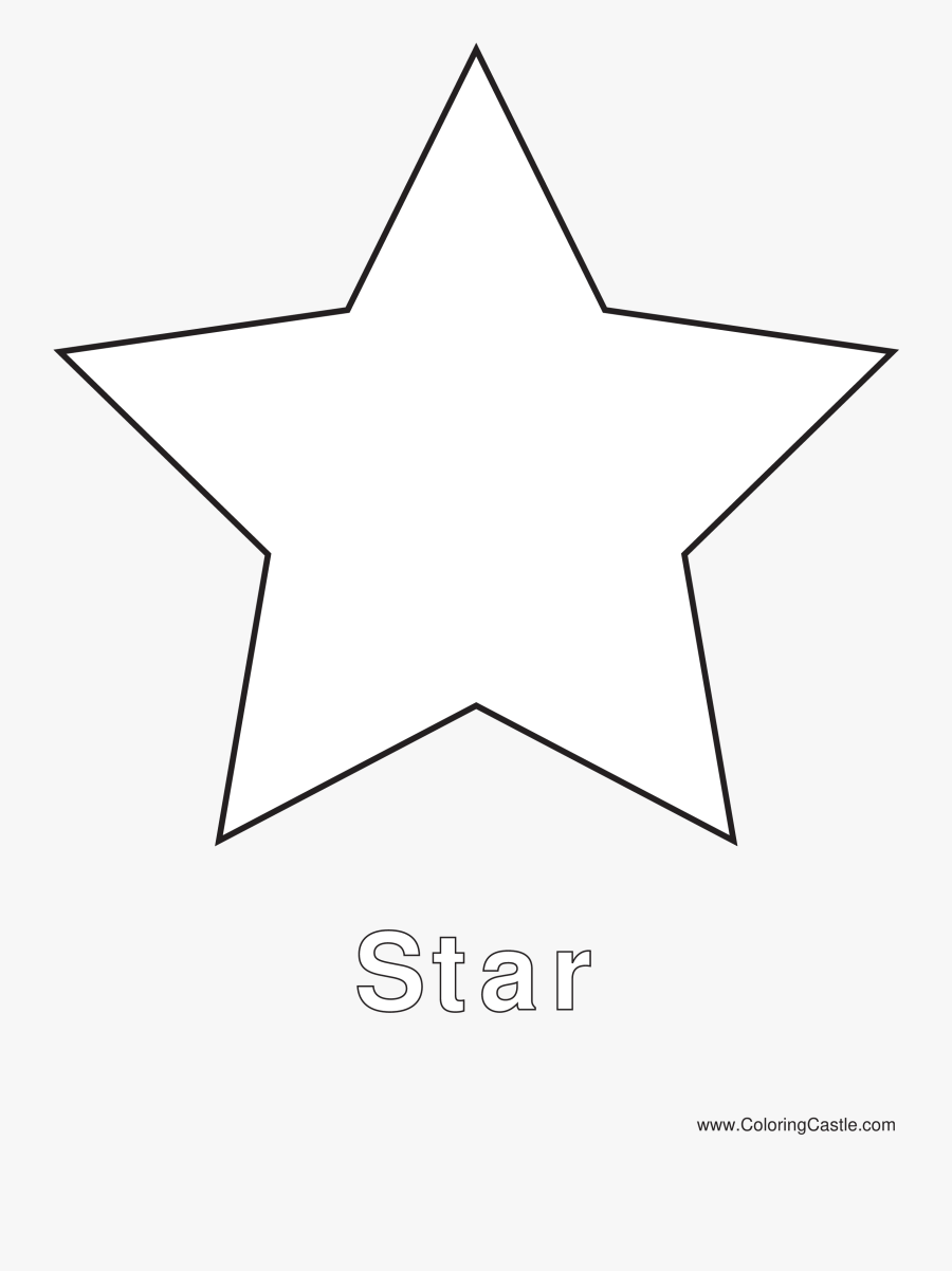 Christmas Shining Star Vector Free Download - Shapes Coloring Pages Star, Transparent Clipart
