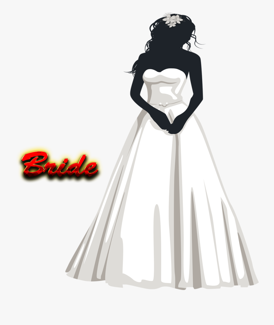 Bride Png Hd - Black And White Bride Png, Transparent Clipart