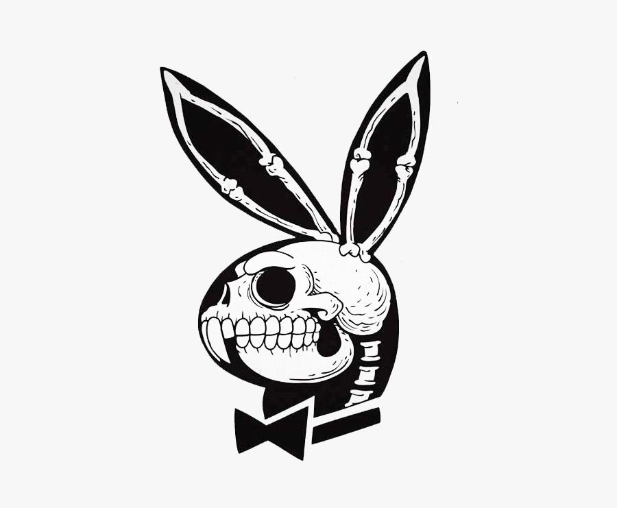 playboy bunny skull , free transparent clipart - clipartkey