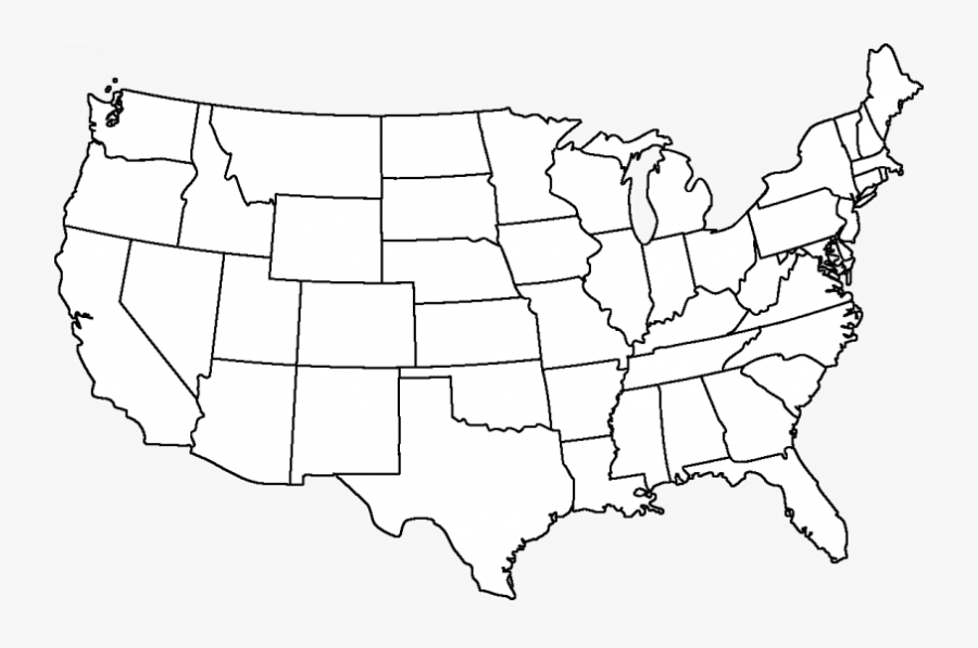 Maps Blank Map Directory United States Wiki State Borders - California Fan Palm Range, Transparent Clipart