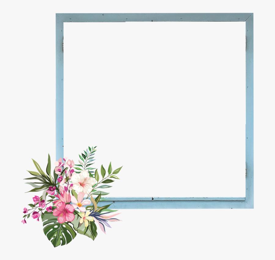 frame border kpop flowers garden nature draw a tropical flower free transparent clipart clipartkey frame border kpop flowers garden