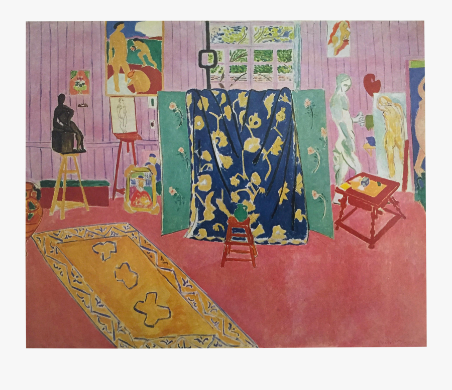 Matisse Drawing Studio - Henri Matisse Artist's Studio, Transparent Clipart