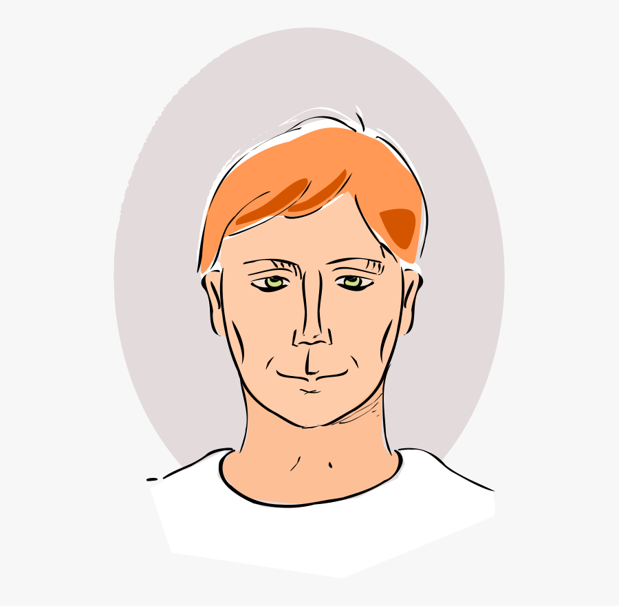 Drawing Of Man& - Drawing Of A Head, Transparent Clipart