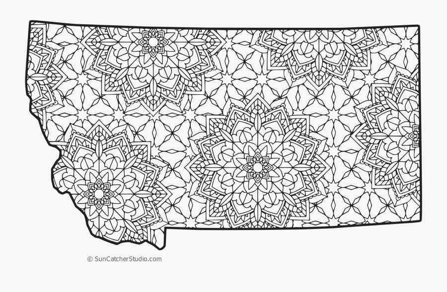 Montana Vector Outline - State Of Oregon Color Page, Transparent Clipart