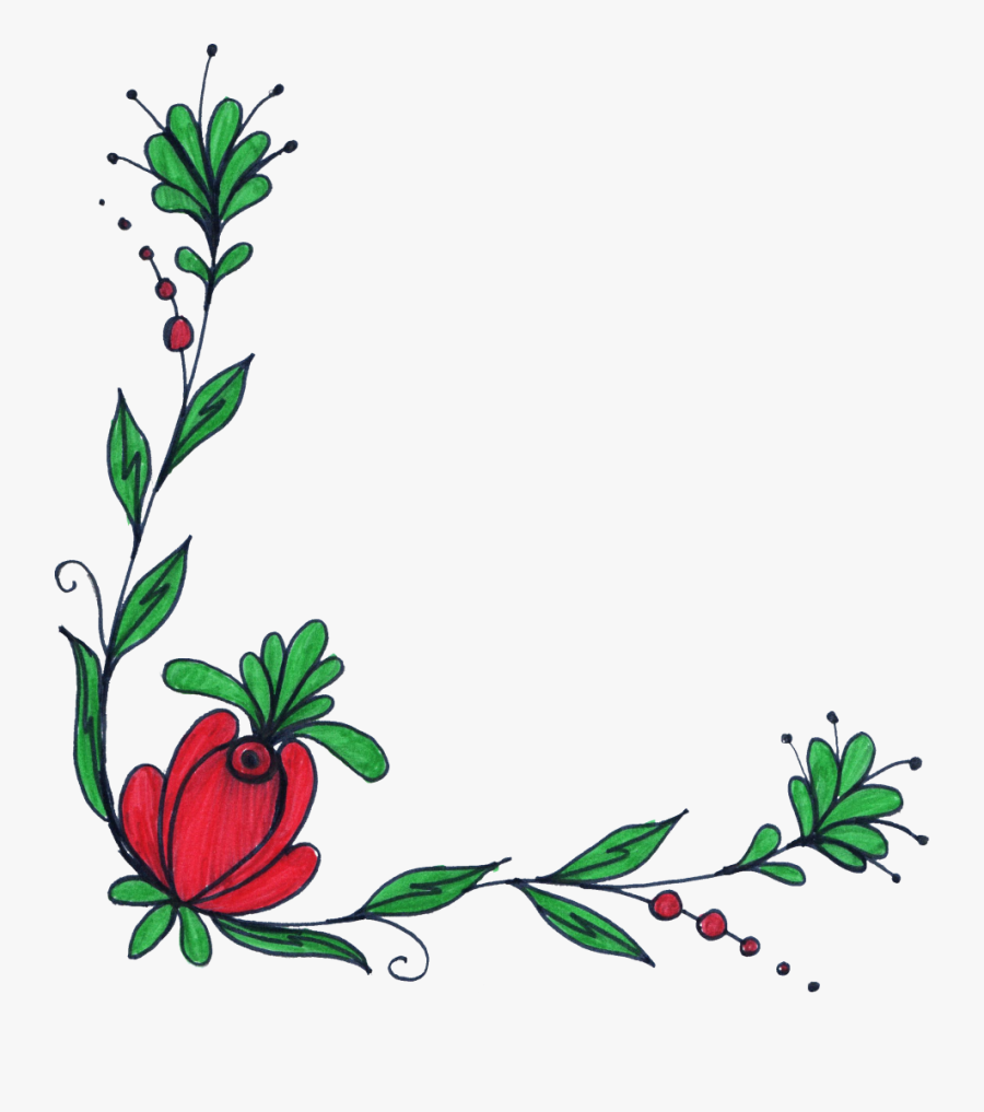 Flower Drawing At Getdrawings - Designs For Drawing Borders, Transparent Clipart